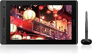 HUION 液タブKamvas Pro16 15.6インチ 傾き検知 充電不要ペン アンチグレアガラス フルラミネーションデイスプレ 8192レベル 15.6型 Adobe® RGBカバー率92%