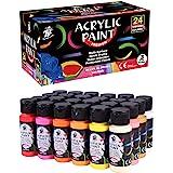 TBC The Best Crafts Premium Acrylic Paint Set,24 Colors/Tubes(59ml,2oz.),Art Paint Supplies for Canvas,Glass and Wood