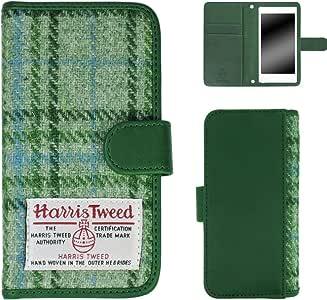 ホワイトナッツ iPhone4s スマホケース 手帳 ハリスツイード グリーン ケース アイフォンフォーエス 手帳型 カバー スマホカバー WN-OD160868_S