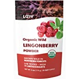Organic Wild Lingonberry Powder, Made from 100% Whole Organic Lingonberries, Freeze Dried and Powdered Wild Lingonberries, Wi