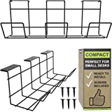 Under Desk Cable Management Tray - Under Desk Cable Organizer for Wire Management. Desk Cable Tray for Office and Home. Compa