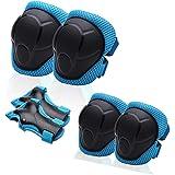 Protective Gear Set for Kids/Boys/Girls/ToddlersKnee Pads Elbow Pads Wrist GuardsAdjustable Strapfor Skateboarding Inner S
