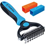 Ninth Bay Undercoat Rake for Dogs and Dog Hair Remover Bundle, Dog Grooming Tool for Deshedding, Dematting & Brushing. (Blue)