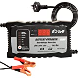 KATBO Battery Charger 6 Amp automatic Lead Acid Battery Maintainer Smart 6V 12V for Car Motorcycle Boat Atv Toy
