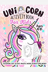Unicorn Activity Book For Kids Ages 4-8 Paperback
