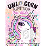 Unicorn Activity Book for Kids Ages 4-8: A Fun Kid Workbook Game For Learning, Coloring, Dot To Dot, Mazes, Word Search and M