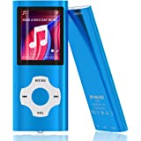 Mymahdi MP3/MP4 Portable Player,1.8 Inch LCD Screen and Card Slot,Max Support 64GB TF Card,Darkblue