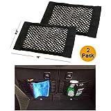 Trunk Storage Net, Dimik [2 Pack] Car Storage Net - Bottles, Groceries, Storage Add On Organizers for Car Truck