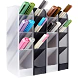 4 Pcs Desk Organizer, Pen Organizer Storage for Office, School Supplies, Translucent Black & White Pen Storage Holder, Set of