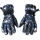 EGOGO Waterproof Windproof Warm Winter Insulated LinedSnow Gloves Skiing Snowboarding Gloves with Buckle for Men, Women, Boy