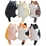 CHICHIC 6 Pack Fun Cat Refrigerator Magnets Office Magnet, Kitchen Decor Fridge Cat Ornament, Perfect for Whiteboard, Refrige