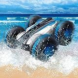 Heyean Waterproof RC Car Amphibious Car 2.4Ghz 4WD Remote Control Car Stunt RC Off Road Car Water Land RC Amphibious Car Toys