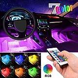 Car LED Strip Light, EJ's SUPER CAR 4pcs 36 LED Multi-color Car Interior Lights Under Dash Lighting Waterproof Kit with Multi