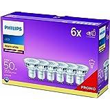 Philips LED GU10 Light Bulbs, 4.6 W (50 W) - Warm White, Pack of 6