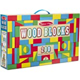 Melissa & Doug 200-Piece Wood Blocks Set
