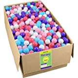 Click N' Play Crush Proof Plastic Pit Balls 1000 Pack 5 Bright Colors