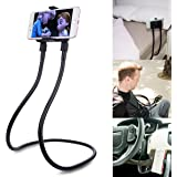 Phone Holder for Bed, Neck Phone Holder Gooseneck Cell Phone Holders, Universal Mobile Phone Stand with Remote for Taking Vid