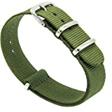 Fboards Trading NATO Strap - 20mm Premium Ballistic Nylon Watch Bands Zulu Style Replacement Straps with Stainless Steel Buck