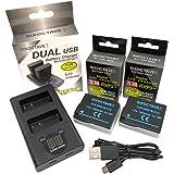 SIXOCTAVE DMW-BLC12 シグマ BP-51 互換バッテリー 2個[ 純正品と同じよう使用可能 残量表示可能 ]& デュアル USB 急速 互換充電器 カメラ バッテリーチャージャー [2個同時充電可能] DMW-BTC6 DMW-BT