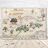 100 Acre Woods Winnie The Pooh Backdrop Baby Shower 7x5 Winnie The Pooh Background Happy Birthday Winnie The Pooh Home Map Ba