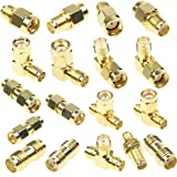 SMA Connector Kits Set 18 in 1 Adapter SMA RP SMA Male and Female RF Coax Coupling Nut barrel Connector Converter For WIFI An