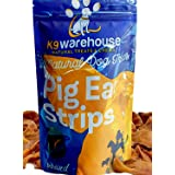 Pig Ears for Dogs | 100% All Natural Pure Pork | Inspected and Packaged in The USA | Pigs Ear Strips Slivers Dog Chew Treats