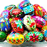 Pysanky (Pisanki) Handpainted Polish Wooden Easter Eggs - Bakers Dozen (13)