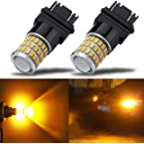 iBrightstar Newest 9-30V Super Bright Low Power 3156 3157 3057 4157 LED Bulbs with Projector Replacement for Turn Signal Ligh