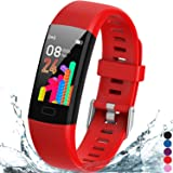 Inspiratek Kids Fitness Tracker for Girls and Boys Age 5-16 (4 Colors)- Waterproof Fitness Watch for Kids with Heart Rate Mon