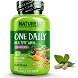 NATURELO One Daily Multivitamin for Women 50+ (Iron Free) - Natural Menopause Support - Best for Women Over 50 - Whole Food S