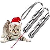 [2枚]猫のおもちゃLED、USB充電式機能インタラクティブな猫のおもちゃ、ペットの猫、ミニ懐中電灯+赤色光+ UV光, 猫チェイサーのためのアイデアギフトトレーニングツール