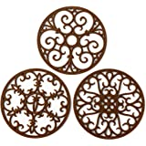 Silicone Trivet Mat - Non-Slip & Heat Resistant Kitchen Hot Pads for Countertops & Table - Kitchen Trivets for Hot Dishes & C