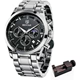 BENYAR - 男性のためのクロノグラフ腕時計、パーフェクトクォーツムーブメント、防水とスクラッチ耐性、アナログスタイ…