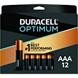 Duracell Optimum 1.5V Alkaline AAA Batteries, Convenient, Resealable Package