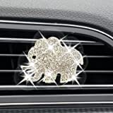 AEEIX Auto Diamond Elephant Car Air Conditioning Outlet Clip Decorative Car Air Vent Clip Charm, Bling Car Accessories, Car I