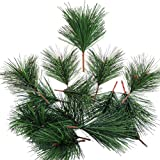 20 PCS Artificial Pine Branches Green Pine Needles Small Pine Twigs Stems Picks for Christmas Flower Arrangements Wreaths Hol
