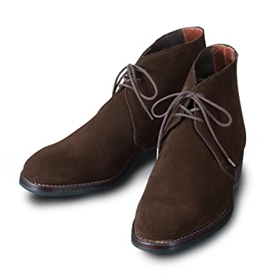 Chukka: Dark Brown Suede