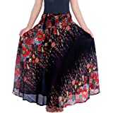 Lannaclothesdesign Women's Long Maxi Skirt Bohemian Gypsy Hippie Style Clothing