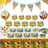 143 Pcs Deluxe Winnie The Pooh Party Supplies Pooh Birthday Decorations Favors Set for Girl Baby Shower Boy Kids 1st 2nd Clas