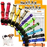 GAMUDA Puppy Collars – Super Soft Nylon Whelping Puppy ID - Adjustable Breakaway Litter Collars Pups – Assorted Colors Plain