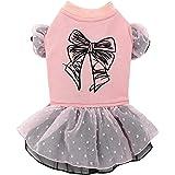 Pet Favorite Pink Princess Dog Tutu Dress with Three Layers Skirts Small
