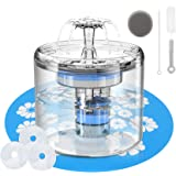 Cat Water Fountain for Drinking ,88oz/2.6L Automatic Pet Fountain Dispenser Transparent with 3 Replacement Filters and Adjust