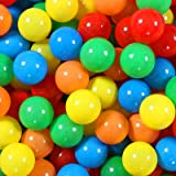 100 Pit Balls Plastic Balls, 2.1 Inch Hollow Soft Smash Proof Ball Set, No SmellBalls for Toddler for Play Tent Kiddie (Ship