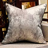 Avigers 18 x 18 Inches Chinese Style Grey Splash-Ink Cushion Cases Luxury Throw Pillow Covers Decorative Pillows for Couch Li