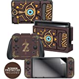Controller Gear Nintendo Switch Skin & Screen Protector Set Officially Licensed by Nintendo - The Legend of Zelda: Breath of