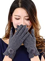 手袋 レディース スマホ手袋 ウール タッチパネル対応 グローブ ミンク ファー