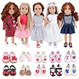 E-TING Lot 7 Items Doll Clothes and Accessories Fashion Summer Clothing for 18 Inch Dolls