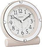 シチズン 目覚まし時計 アナログ セリアRA18 蓄光 & ライト 連続秒針 ピンク パール CITIZEN 8REA1…