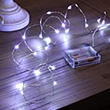 Ariceleo Led Fairy Lights Battery Operated, 1 Pack Mini Battery Powered Copper Wire Starry Fairy Lights for Bedroom, Christma