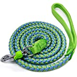 Mycicy Mountain Climbing Rope Dog Leash, 6 Foot Reflective Nylon Braided Heavy Duty Dog Training Leash for Large and Medium D